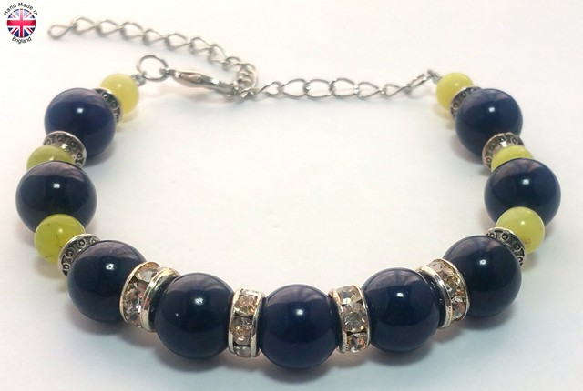 Glass beaded designer bracelet