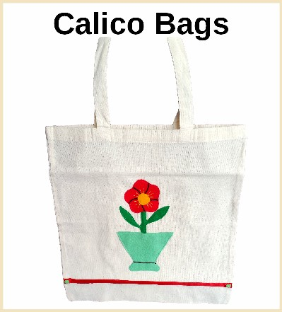 stylish calico bags for shopping