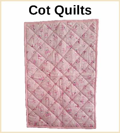 designer cot quilts