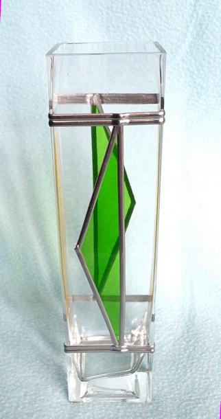 U.N.C glass vase