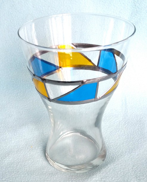 art glass vase by U.N.C