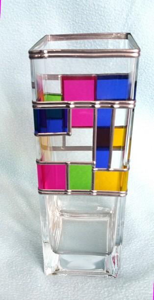 glass vase by U.N.C