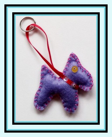 scottie dog keyring