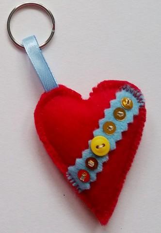 heart Felt handmade Keyring