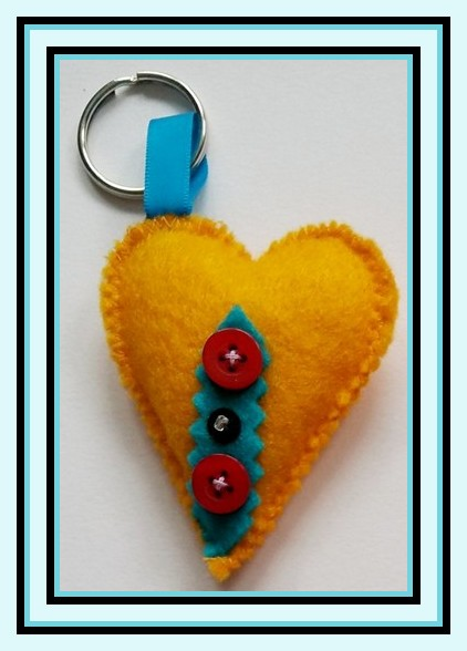 stuffed keyring heart