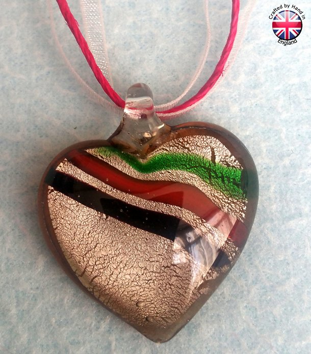 Heart Glass Necklace.