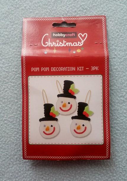 Christmas Pom Pom Decoration craft kit