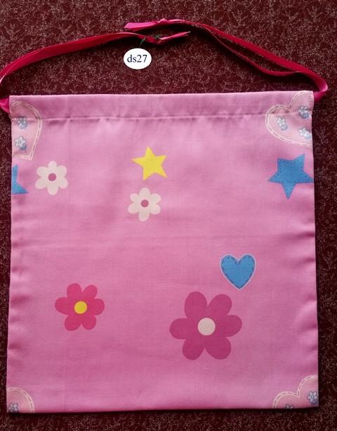 Classic Pink Drawstring Bag