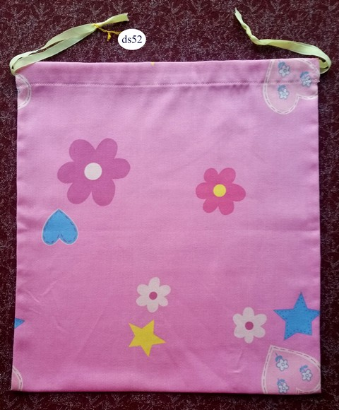 Pink Classic Drawstring Bag