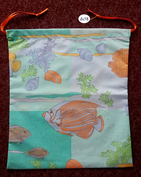 Classic Drawstring Bag Fishes