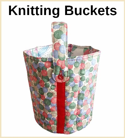 Designer Knitting buckets